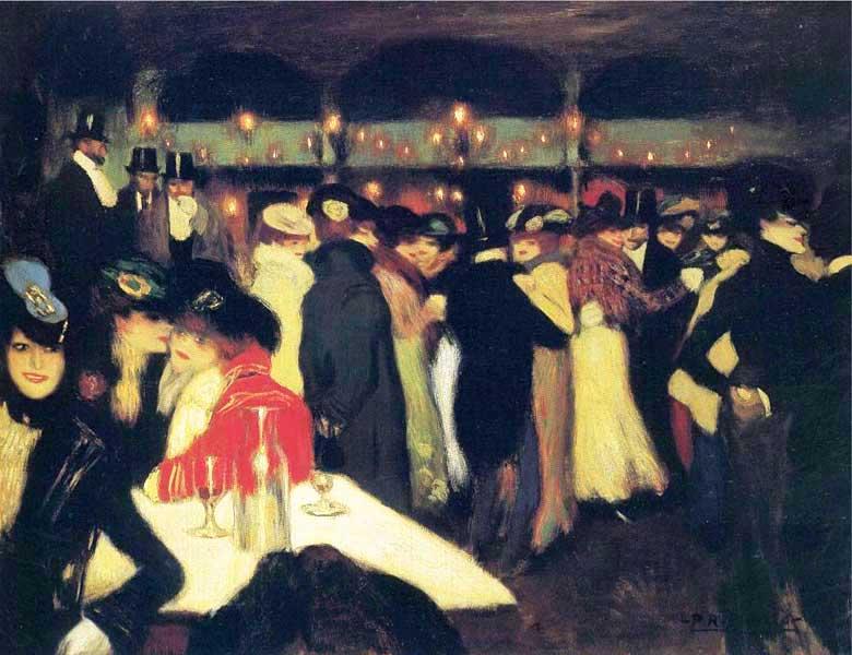 Картина Пабло Пикассо. Мулен де ла Галетт. 1900