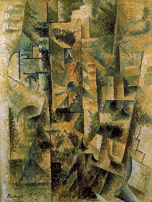 Картина Пабло Пикассо. Пейзаж Сере. 1911