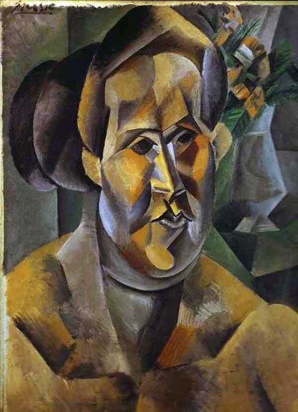 Картина Пабло Пикассо. Портрет Фернанды. 1909