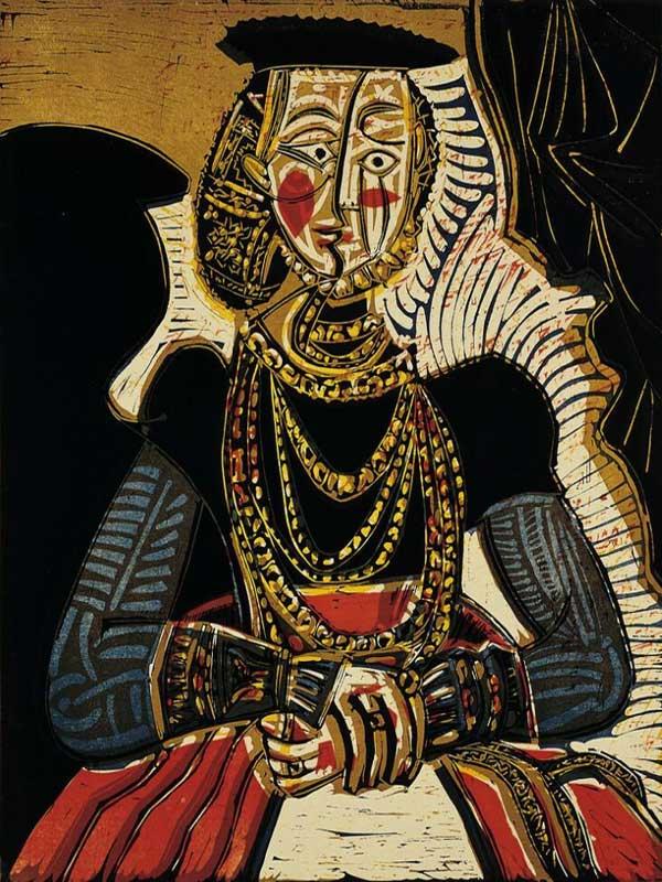 Картина Пабло Пикассо. Портрет молодой девушки, по Кранаху мл., II. 1958