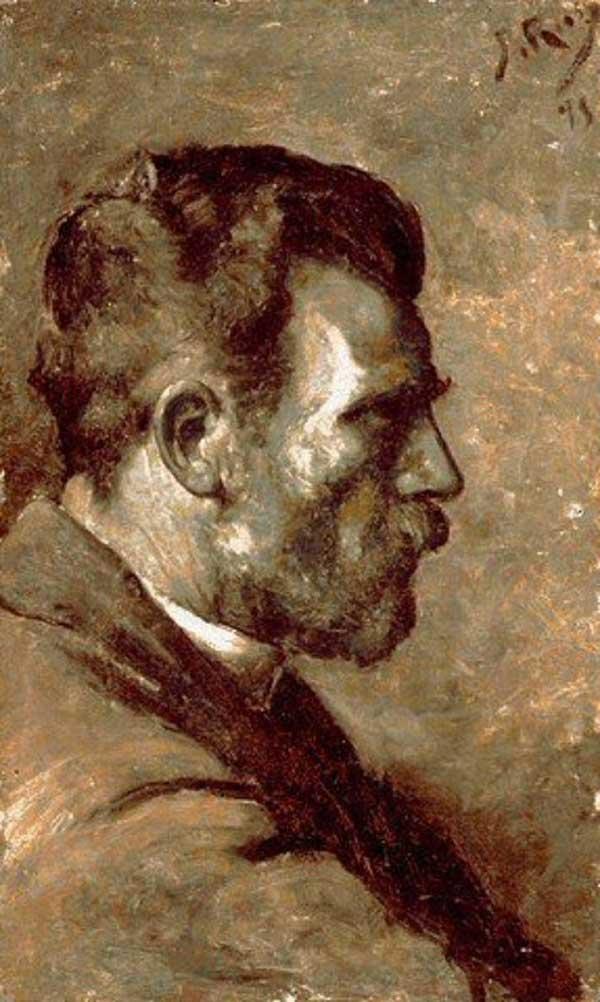 Картина Пабло Пикассо. Портрет отца художника. 1895