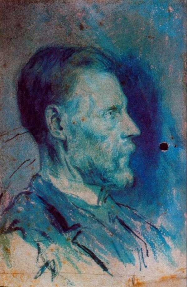 Картина Пабло Пикассо. Портрет отца. 1896