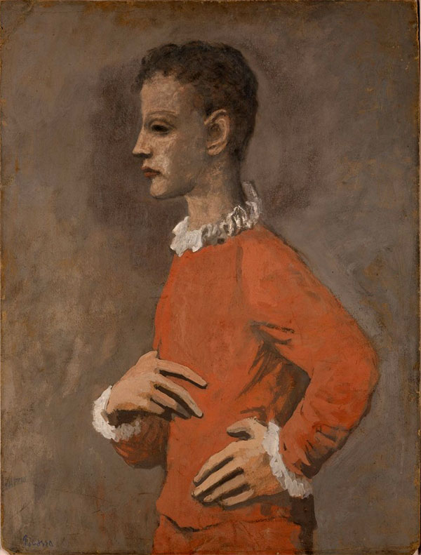 Картина Пабло Пикассо. Акробат в профиль. 1905