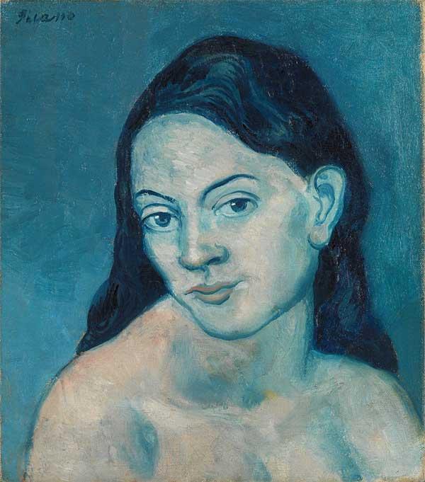 Картина Пабло Пикассо. Голова женщины. 1903