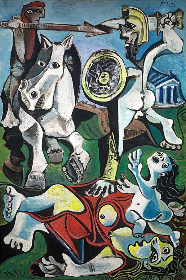 Картина Пабло Пикассо. Похищение сабинянок. 1963
