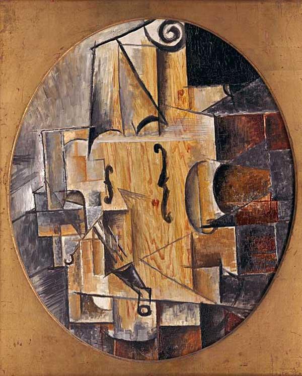 Картина Пабло Пикассо. Скрипка. 1912