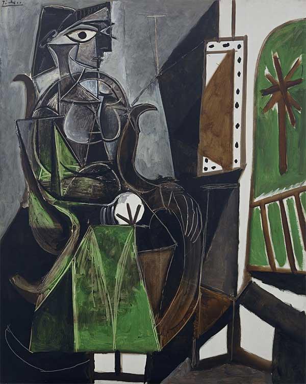 Картина Пабло Пикассо. Женщина у окна. 1956