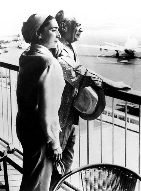 Жаклин Рок с Пабло Пикассо. Фото, 1950-е