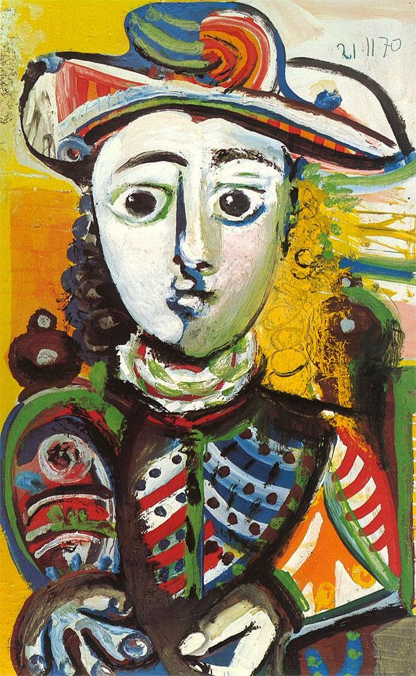Картина Пабло Пикассо. Сидящая девушка. 1970