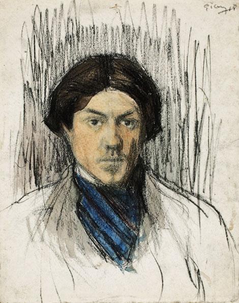 Картина Пабло Пикассо. Автопортрет. 1901-1902