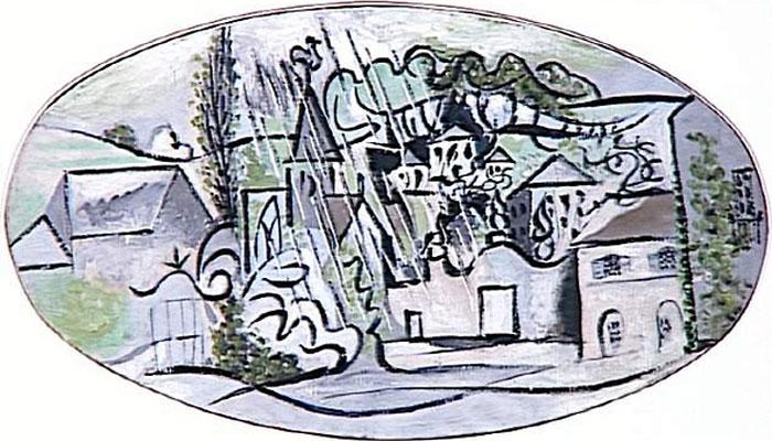 Картина Пабло Пикассо. Буажелу в дождь. 1932