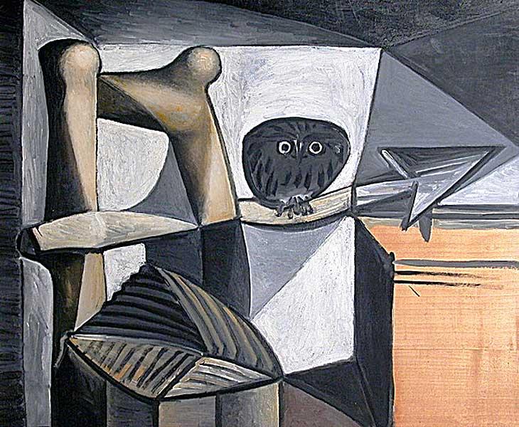 Картина Пабло Пикассо. Сова в интерьере. 1946