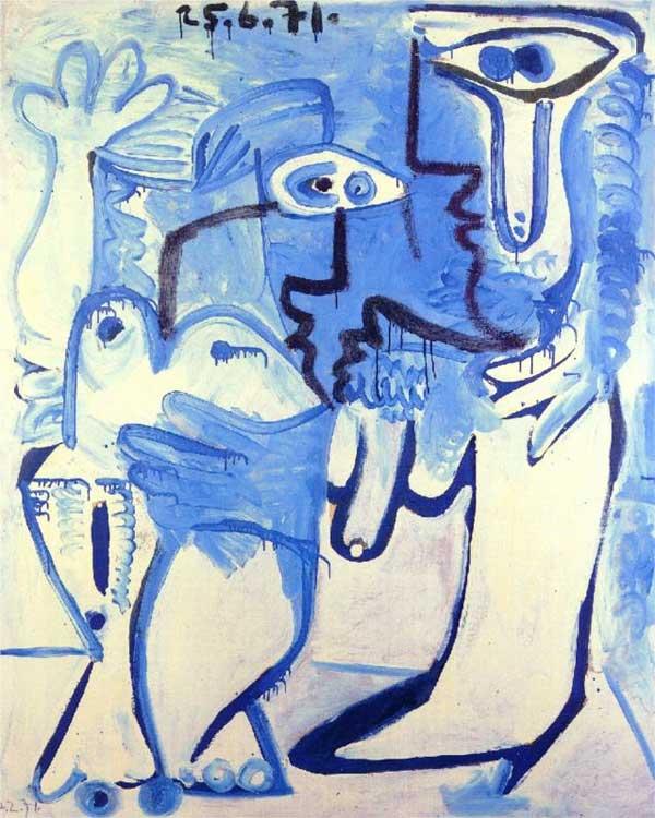Картина Пабло Пикассо. Пара. 1971