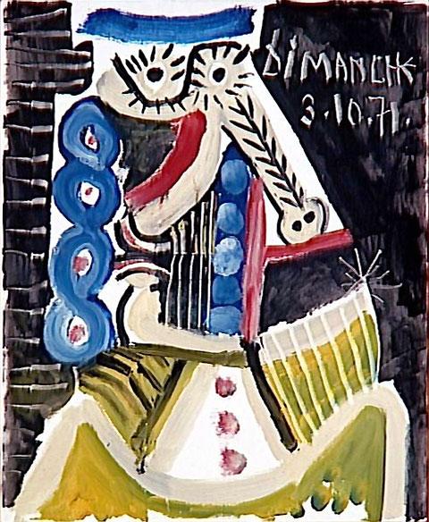 Картина Пабло Пикассо. Воскресенье. 1971