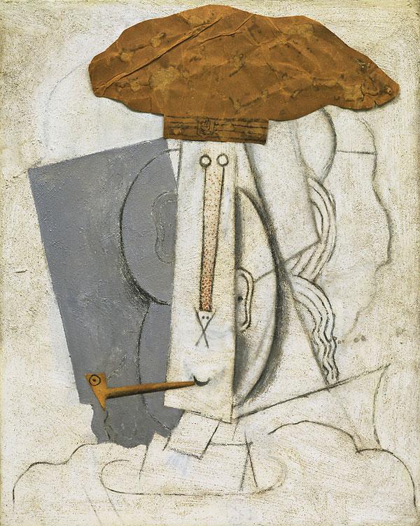 Картина Пабло Пикассо. Студент с трубкой. 1914