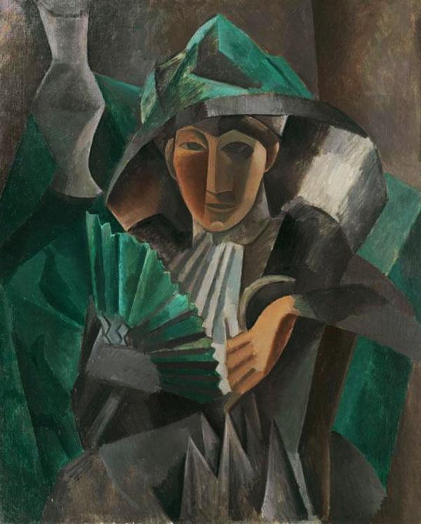 Картина Пабло Пикассо. Дама с веером. 1909