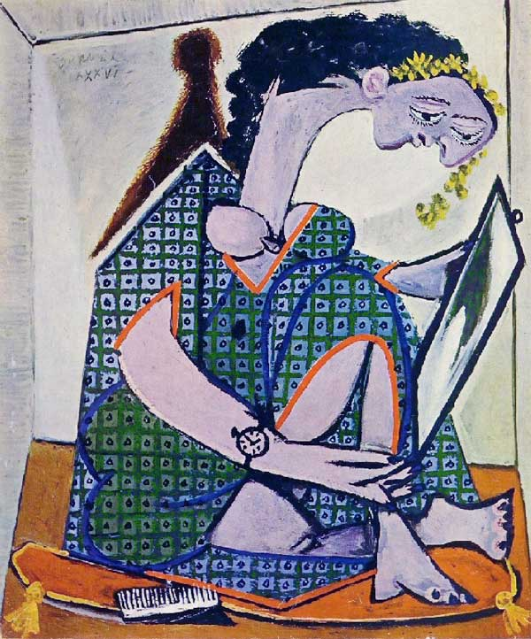 Картина Пабло Пикассо. Женщина перед зеркалом. 1936