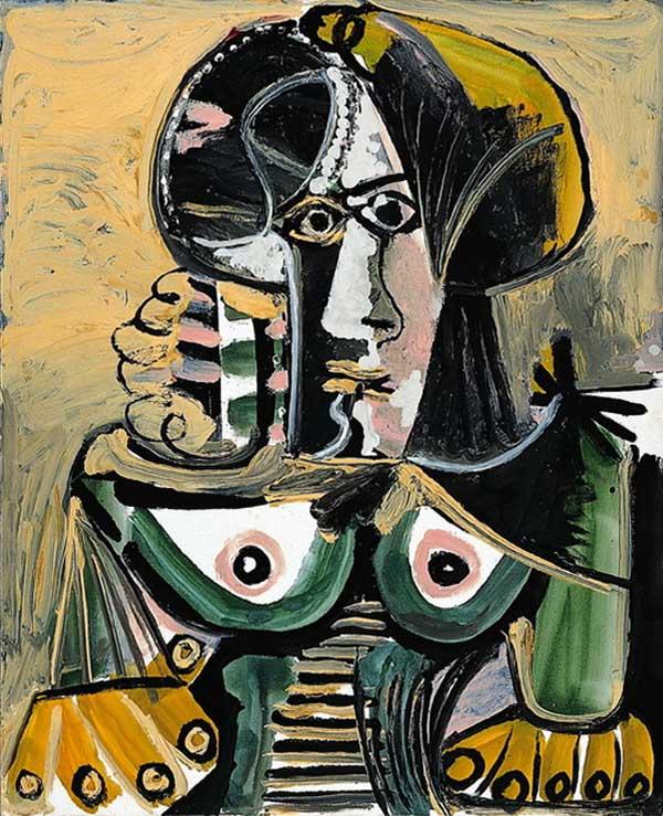 Картина Пабло Пикассо. Сидящая женщина. 1971
