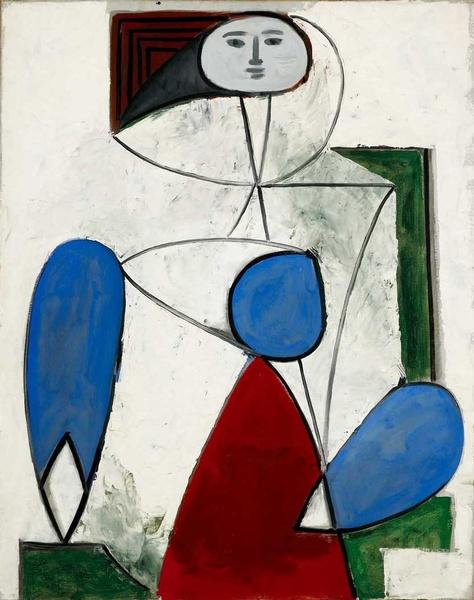 Картина Пабло Пикассо. Женщина в кресле. 1947