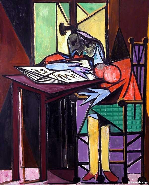 Картина Пабло Пикассо. Читающая женщина. 1935