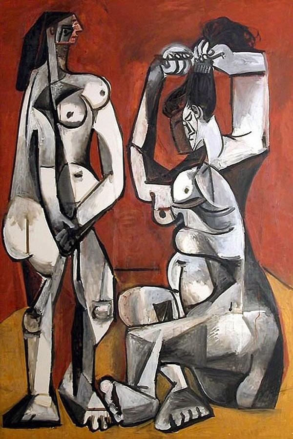 Картина Пабло Пикассо. Женщины за туалетом. 1956