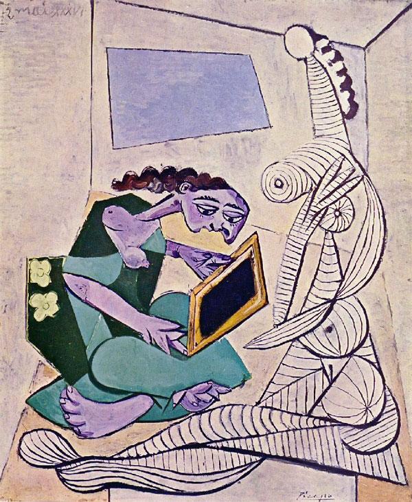 Картина Пабло Пикассо. Женщины в интерьере. 1936