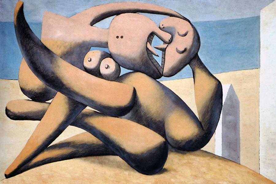 Картина Пабло Пикассо. Фигуры на берегу моря (Поцелуй). 1931