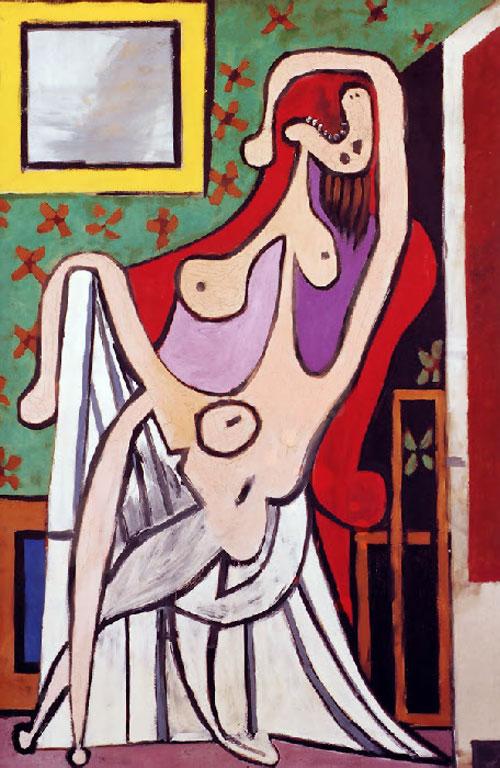 Картина Пабло Пикассо. Обнаженная в красном кресле. 1929