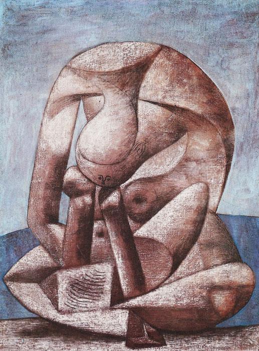 Картина Пабло Пикассо. Большая купальщица с книгой. 1937