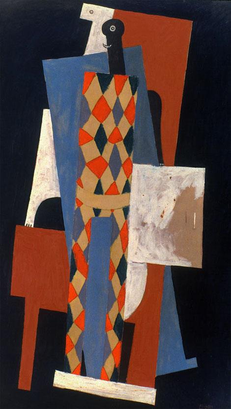Картина Пабло Пикассо. Арлекин. 1915