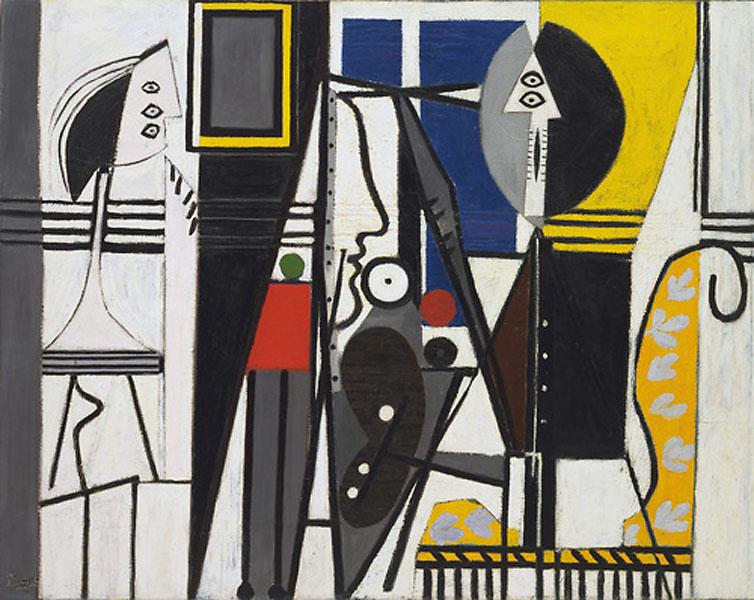 Картина Пабло Пикассо. Художник и модель. 1928