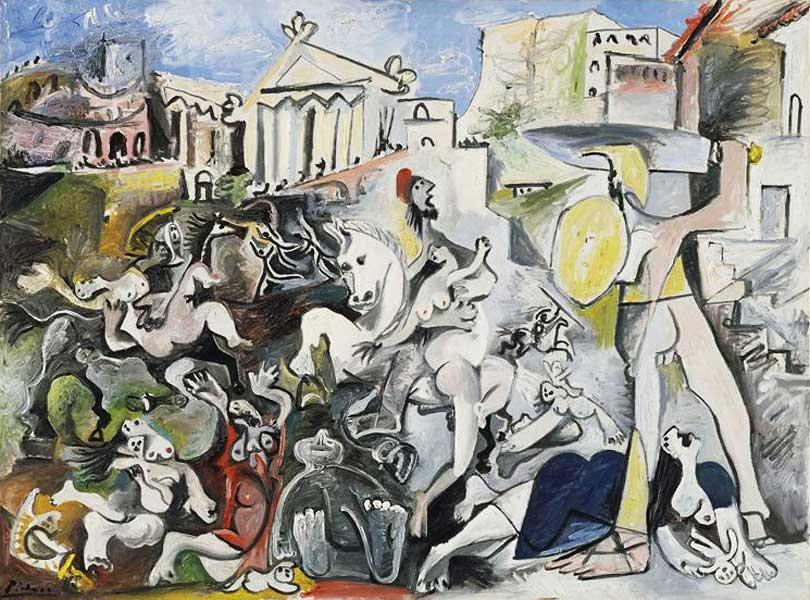 Картина Пабло Пикассо. Похищение сабинянок 2. 1962