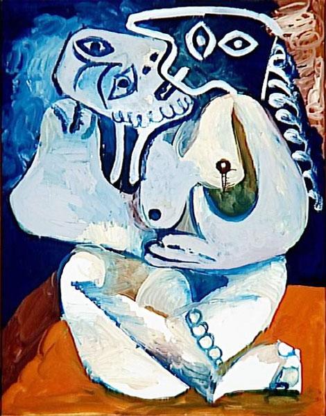 Картина Пабло Пикассо. Объятия. 1970