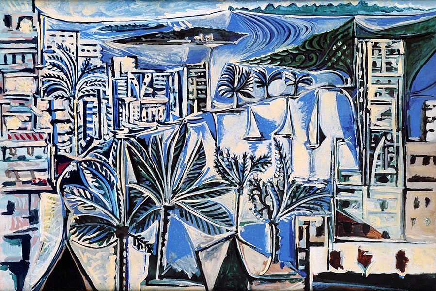 Картина Пабло Пикассо. Залив в Каннах. 1958
