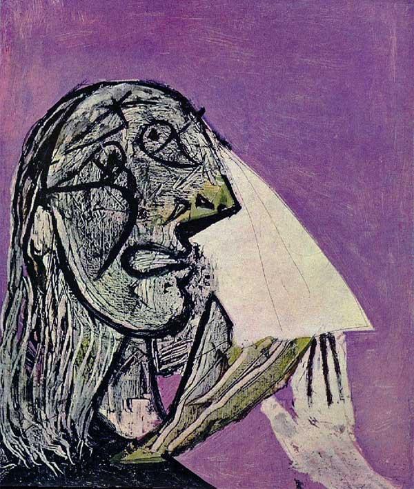 Картина Пабло Пикассо. Плачущая женщина. 1936
