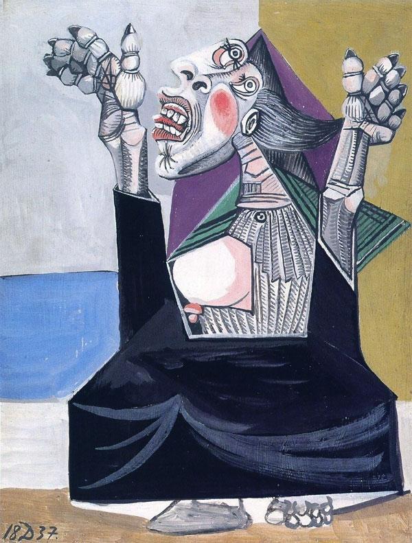 Картина Пабло Пикассо. Молящая. 1937