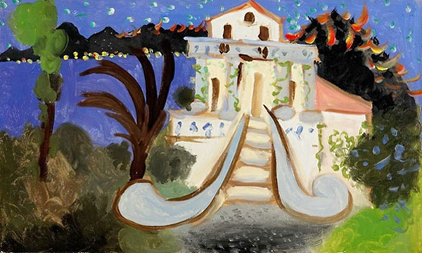 Картина Пабло Пикассо. Вилла Шен Рок в Жуан ле Пен. 1931