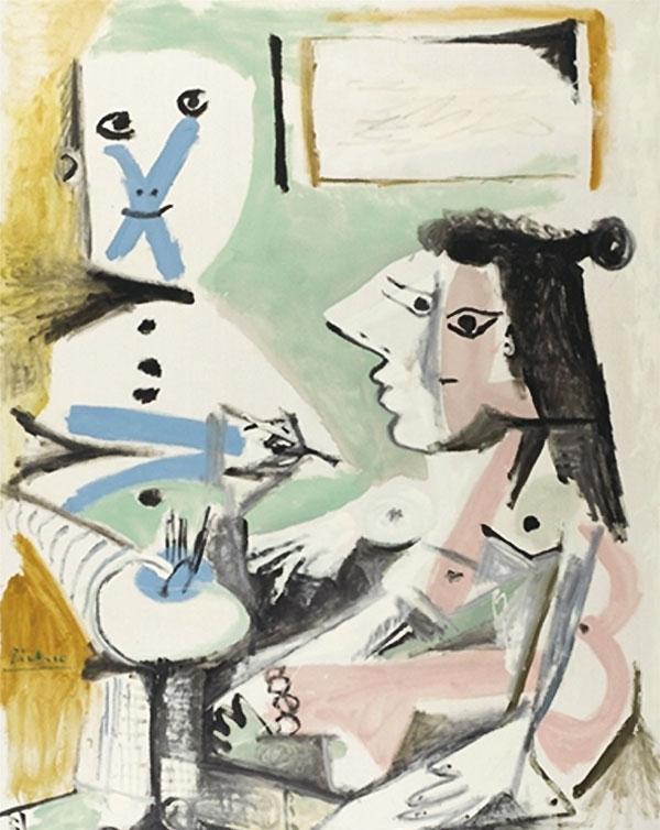 Картина Пабло Пикассо. Художник и модель. 1964 ($10,7 млн)