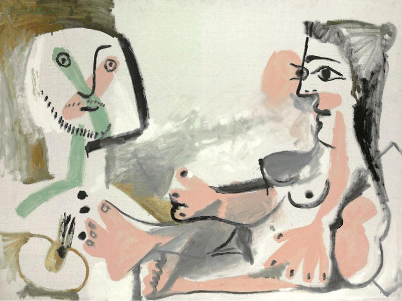 Картина Пабло Пикассо. Художник и модель. 1964 ($2,9 млн)