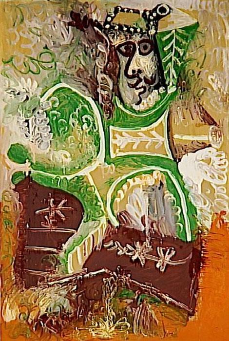 Картина Пабло Пикассо. Старик (Человек в шляпе). 1970