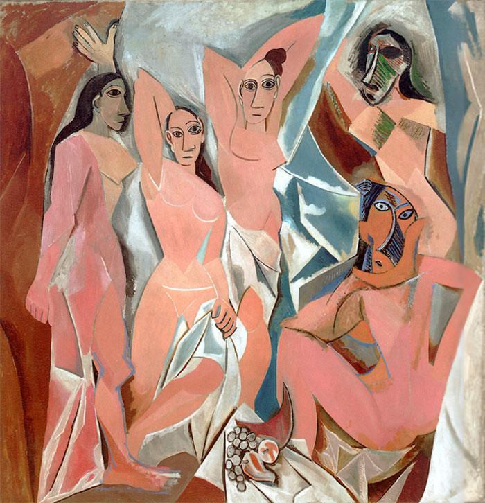 Пабло Пикассо. Авиньонские девицы, 1907