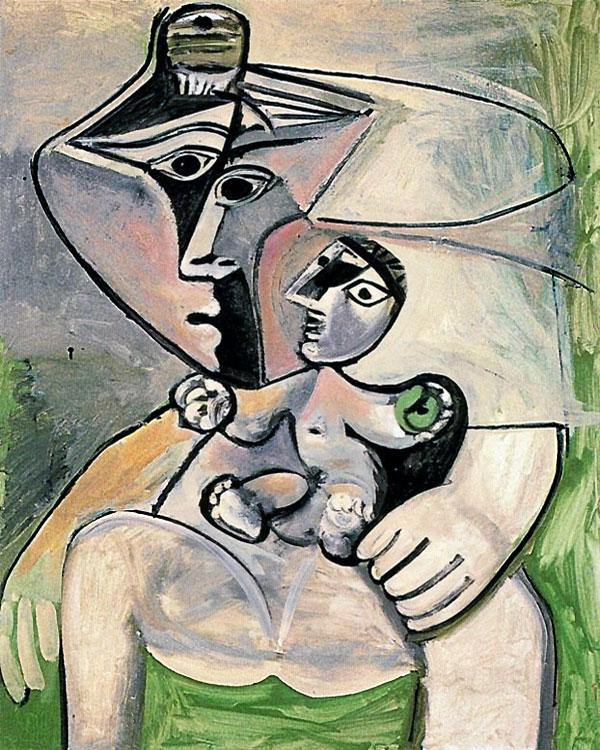 Картина Пабло Пикассо. Материнство. 1971
