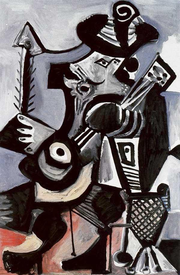 Картина Пабло Пикассо. Музыкант. 1972