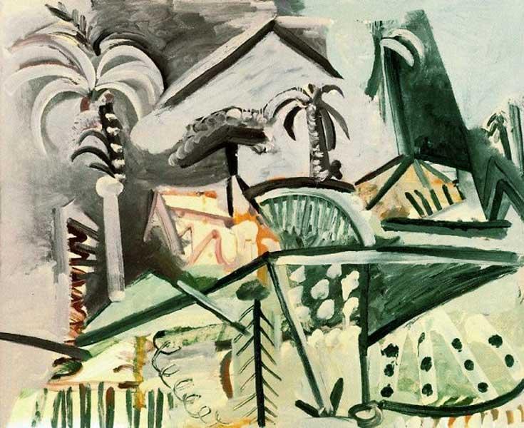Картина Пабло Пикассо. Пейзаж. 1972