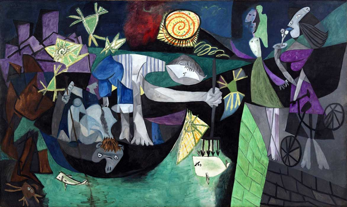 Картина Пабло Пикассо. Ночная рыбалка на Антибах. 1939