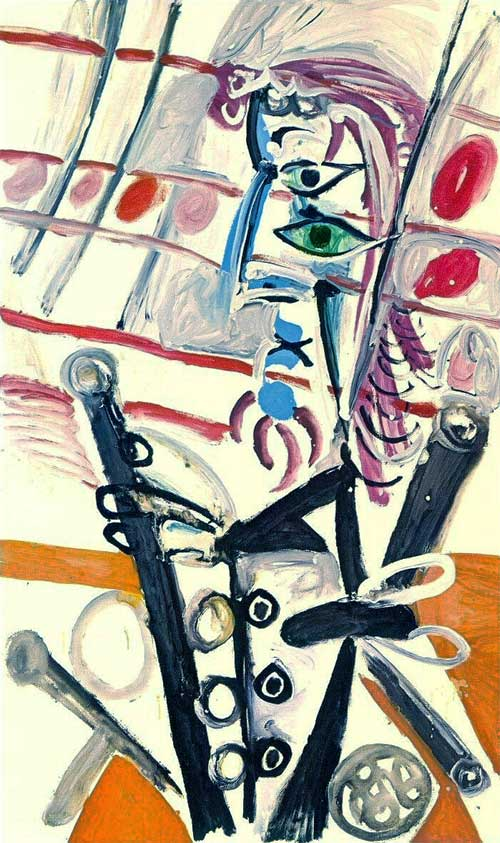 Картина Пабло Пикассо. Пьеро. 1969