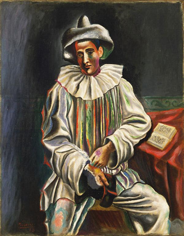 Картина Пабло Пикассо. Пьеро. 1918