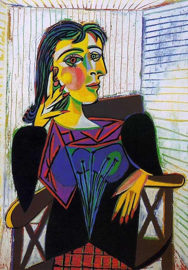 Картина Пабло Пикассо. Портрет Доры Маар. 1937