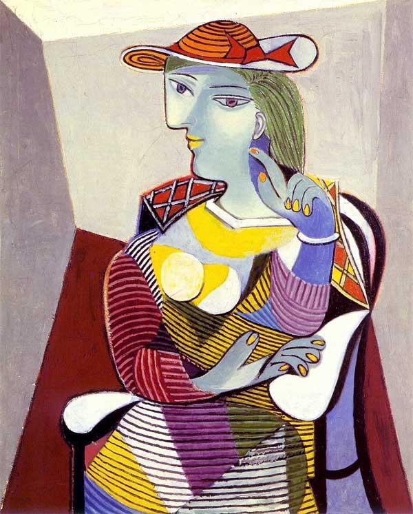Картина Пабло Пикассо. Портрет Марии-Терезы. 1937