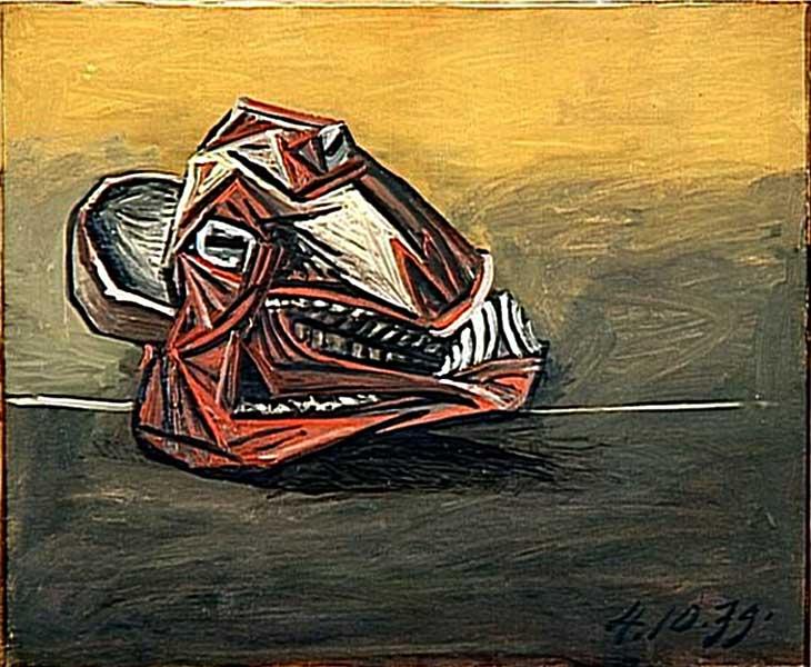 Картина Пабло Пикассо. Баранья голова. 1939